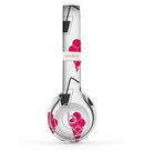 The Red Icecream and Drink Icon Collage Skin Set for the Beats by Dre Solo 2 Wireless Headphones