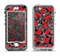 The Red Icon Flowers on Dark Swirl Apple iPhone 5-5s LifeProof Nuud Case Skin Set