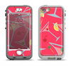 The Red Martini Drinks With Lemons Apple iPhone 5-5s LifeProof Nuud Case Skin Set