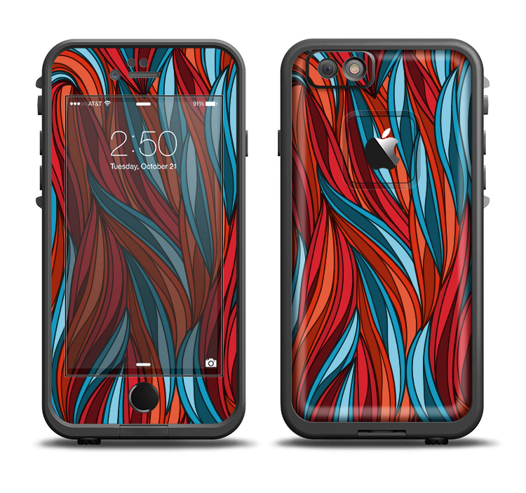 detailed pictures ad88d f63f8 the red orange and blue vector strands Apple iPhone 6/6s LifeProof ...