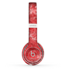 The Red Splotted Paint Texture Skin Set for the Beats by Dre Solo 2 Wireless Headphones