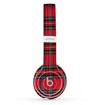 The Red Stuart Tartan Plaid Fabric Pattern Skin Set for the Beats by Dre Solo 2 Wireless Headphones