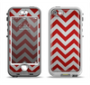 The Red Vintage Chevron Pattern Apple iPhone 5-5s LifeProof Nuud Case Skin Set