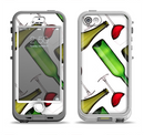 The Red Wine Bottles and Glasses Apple iPhone 5-5s LifeProof Nuud Case Skin Set