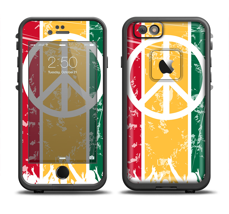buy online 983d5 7e85d the red yellow green layered peace Apple iPhone 6/6s LifeProof Fre ...