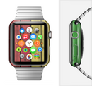 The Red, Yellow and Green Wood Planks Full-Body Skin Set for the Apple Watch