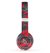 The Red and Gray Digital Camouflage Skin Set for the Beats by Dre Solo 2 Wireless Headphones