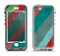 The Red and Green Diagonal Stripes Apple iPhone 5-5s LifeProof Nuud Case Skin Set