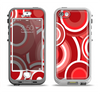 The Red and White Layered Vector Circles Apple iPhone 5-5s LifeProof Nuud Case Skin Set