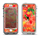 The Red and Yellow Watercolor Flowers Apple iPhone 5-5s LifeProof Nuud Case Skin Set