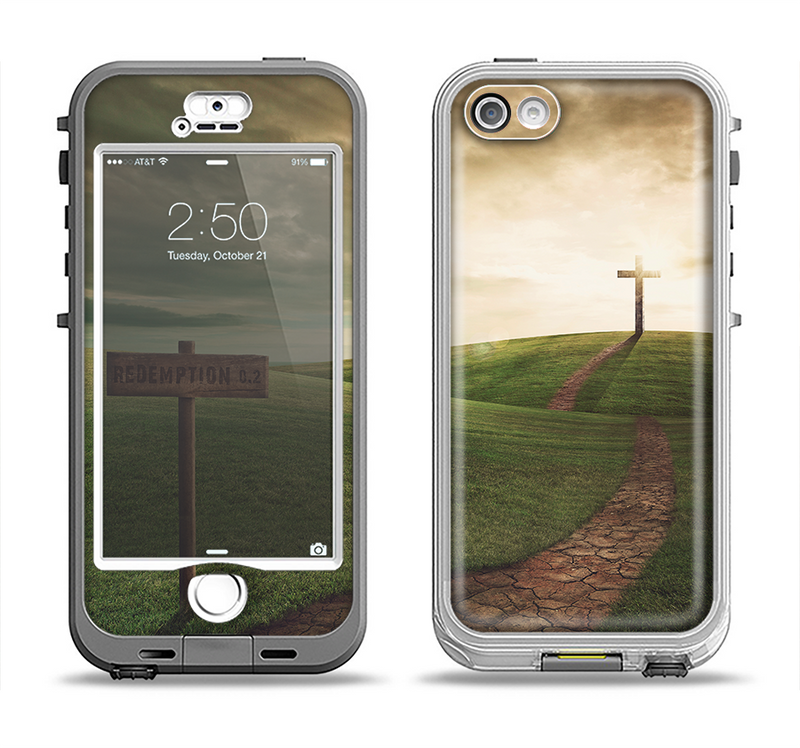 The Redemption Hill Apple iPhone 5-5s LifeProof Nuud Case Skin Set