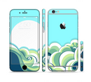 The Retro Blue Vintage Vector Wave Sectioned Skin Series for the Apple iPhone 6/6s Plus