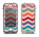 The Retro Chevron Pattern with Digital Camo Apple iPhone 5-5s LifeProof Nuud Case Skin Set