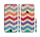 The Retro Chevron Pattern with Digital Camo Sectioned Skin Series for the Apple iPhone 6/6s Plus