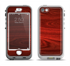 The Rich Red Wood grain Apple iPhone 5-5s LifeProof Nuud Case Skin Set