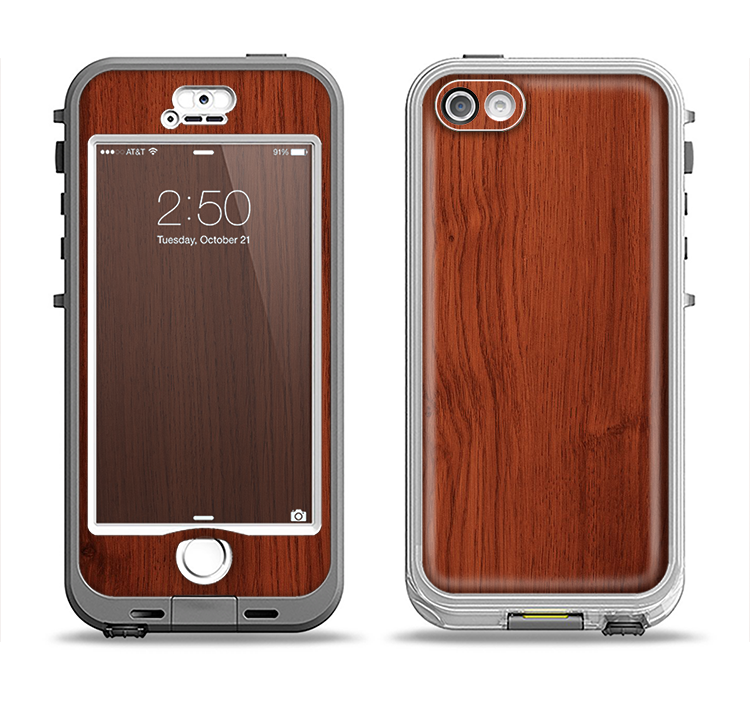 The Rich Wood Texture Apple iPhone 5-5s LifeProof Nuud Case Skin Set