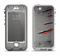 The Ripped Red-Core Metal Apple iPhone 5-5s LifeProof Nuud Case Skin Set