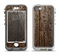 The Rough Textured Dark Wooden Planks Apple iPhone 5-5s LifeProof Nuud Case Skin Set