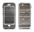 The Rough Wooden Planks V4 Apple iPhone 5-5s LifeProof Nuud Case Skin Set