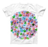 The Rounded Flower Cluster ink-Fuzed Unisex All Over Full-Printed Fitted Tee Shirt
