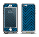 The Royal Blue & Black Sketch Chevron Apple iPhone 5-5s LifeProof Nuud Case Skin Set