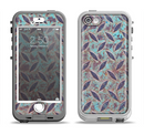 The Rusted Blue Diamond Plate Apple iPhone 5-5s LifeProof Nuud Case Skin Set