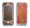 The Rusty Metal with Jagged Edge Apple iPhone 5-5s LifeProof Nuud Case Skin Set