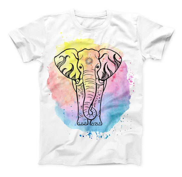 The Sacred Elephant Watercolor V2 ink-Fuzed Unisex All Over Full-Printed Fitted Tee Shirt