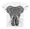 The Sacred Ornate Elephant ink-Fuzed Unisex All Over Full-Printed Fitted Tee Shirt