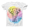 The Sacred Watercolor Elephant ink-Fuzed Unisex All Over Full-Printed Fitted Tee Shirt