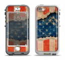 The Scratched Surface Peeled American Flag Apple iPhone 5-5s LifeProof Nuud Case Skin Set