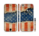 The Scratched Surface Peeled American Flag Sectioned Skin Series for the Apple iPhone 6/6s Plus