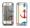 The Scratched Vintage Red Anchor Apple iPhone 5-5s LifeProof Nuud Case Skin Set
