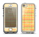 The Scratched Yellow Faded Plaid Apple iPhone 5-5s LifeProof Nuud Case Skin Set