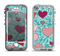 The Sharded Hearts On Teal Apple iPhone 5-5s LifeProof Nuud Case Skin Set