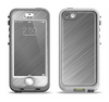 The Silver Brushed Aluminum Surface Apple iPhone 5-5s LifeProof Nuud Case Skin Set