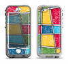 The Sketched Colorful Uneven Panels Apple iPhone 5-5s LifeProof Nuud Case Skin Set