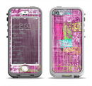 The Sketched Pink Word Surface Apple iPhone 5-5s LifeProof Nuud Case Skin Set