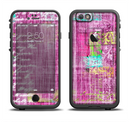 The Sketched Pink Word Surface Apple iPhone 6/6s LifeProof Fre Case Skin Set