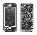 The Small Black and White Flower Sprouts Apple iPhone 5-5s LifeProof Nuud Case Skin Set