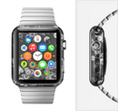 The Small Black and White Flower Sprouts Full-Body Skin Set for the Apple Watch