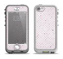 The Small Pink Polkadotted Surface Apple iPhone 5-5s LifeProof Nuud Case Skin Set