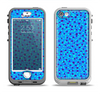 The Small Scattered Polka Dots of Blue Apple iPhone 5-5s LifeProof Nuud Case Skin Set