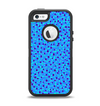 The Small Scattered Polka Dots of Blue Apple iPhone 5-5s Otterbox Defender Case Skin Set