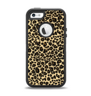 The Small Vector Cheetah Animal Print Apple iPhone 5-5s Otterbox Defender Case Skin Set