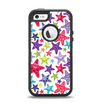 The Smiley Faced Vector Colored Starfish Pattern Apple iPhone 5-5s Otterbox Defender Case Skin Set