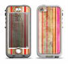 The Smudged Pink Painted Stripes Pattern Apple iPhone 5-5s LifeProof Nuud Case Skin Set
