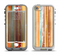 The Smudged Yellow Painted Stripes Pattern Apple iPhone 5-5s LifeProof Nuud Case Skin Set