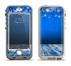 The Snowy Blue Wooden Dock Apple iPhone 5-5s LifeProof Nuud Case Skin Set