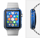 The Snowy Blue Wooden Dock Full-Body Skin Set for the Apple Watch
